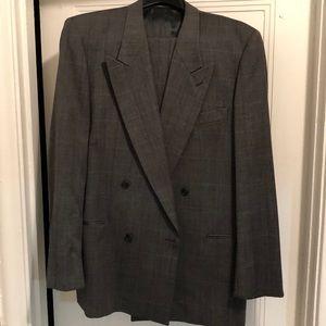Giorgio Armani Double Breasted Suit 42L pants 36L
